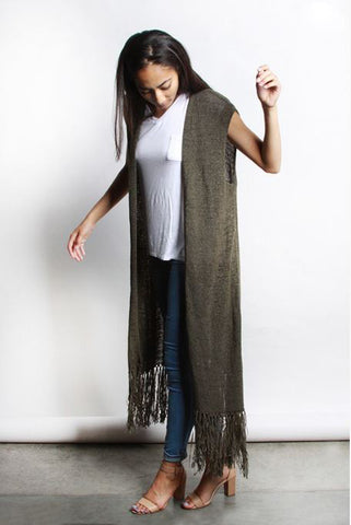 Maxi Cardigan Vest - Oh Deer Boutique