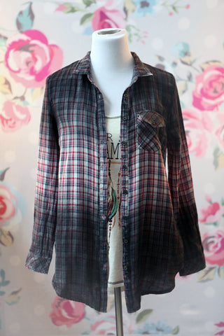 Dip Dyed Plaid - Oh Deer Boutique