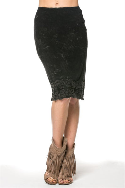 Lace Trimmed Skirt - Oh Deer Boutique