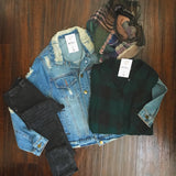 Distressed Denim Jacket - Oh Deer Boutique