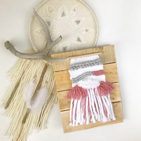 Pink Tassel Wall Hanging - Oh Deer Boutique