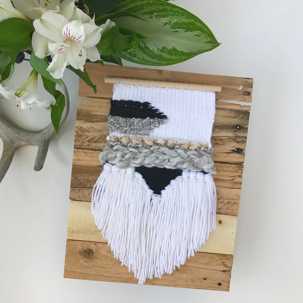 White and Black Wall Hanging - Oh Deer Boutique