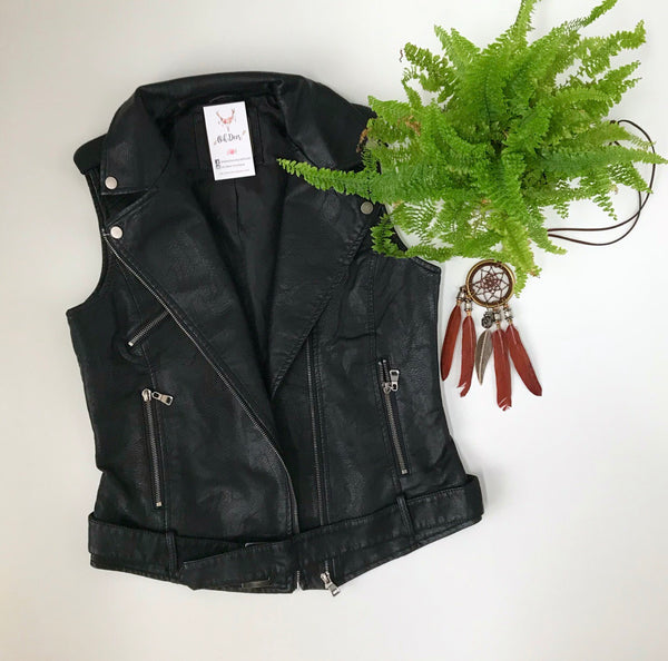 Biker Vest - Oh Deer Boutique