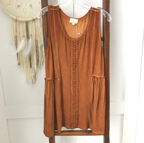 Crochet Trim Tank - Oh Deer Boutique