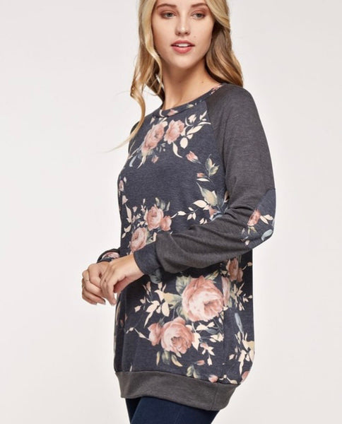 Floral Sweater Tunic