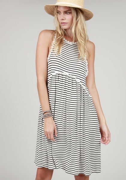 Stripe Babydoll Dress - Oh Deer Boutique
