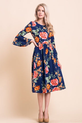 Bell Sleeve Dress - Oh Deer Boutique