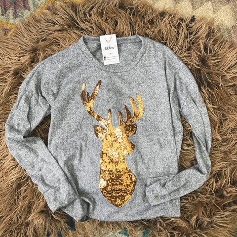 Deer Sequin Top - Oh Deer Boutique