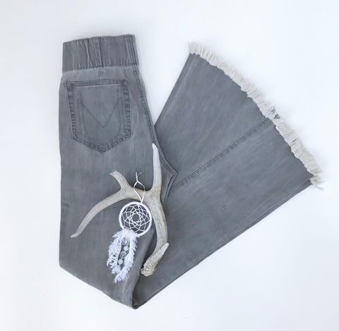Grey Denim Bells - Oh Deer Boutique