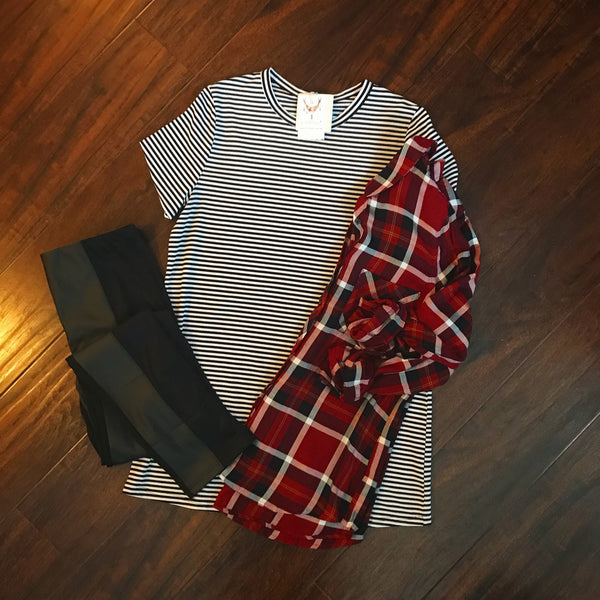 Stripe Tunic - Oh Deer Boutique