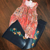 Persian Babydoll Top - Oh Deer Boutique