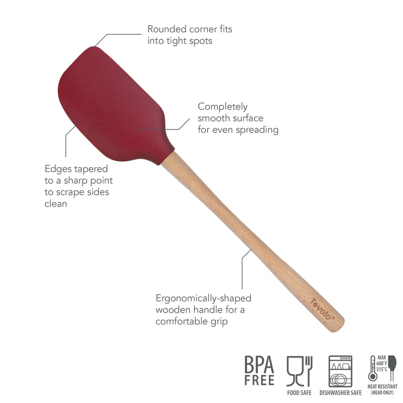 Flex Core Wood Handled Spatula - KitchenarySg - 9