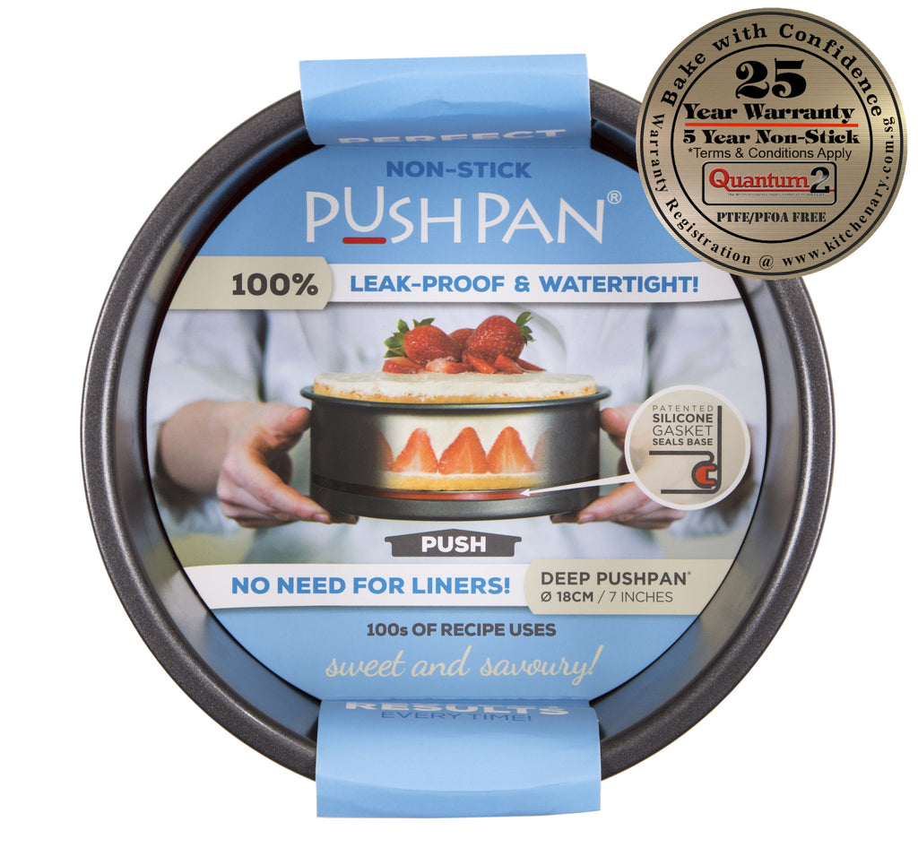 PushPan Deep Round Pan - Non Stick Heavy Gauge Carbon Steel - KitchenarySg - 1