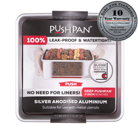 "PushPan 20cm (8"") Deep Square Pan - Anodised Aluminium - KitchenarySg - 1"