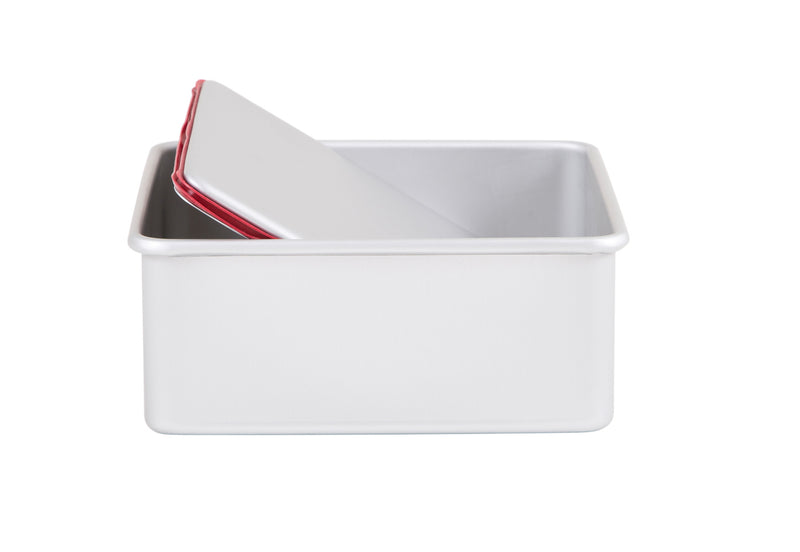 "PushPan 20cm (8"") Deep Square Pan - Anodised Aluminium - KitchenarySg - 3"