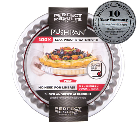 PushPan Round Flan Pan - Anodised Aluminium - KitchenarySg - 1