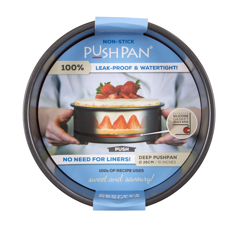 PushPan Deep Round Pan - Non Stick Heavy Gauge Carbon Steel - KitchenarySg - 12