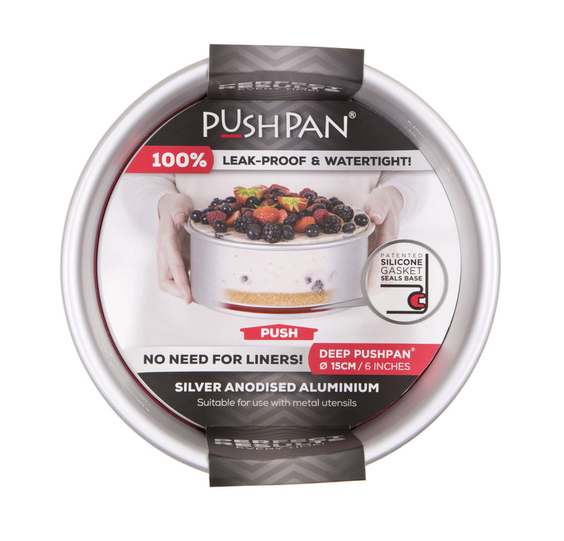 PushPan Deep Round Cake Pan Anodised Aluminium - KitchenarySg - 6