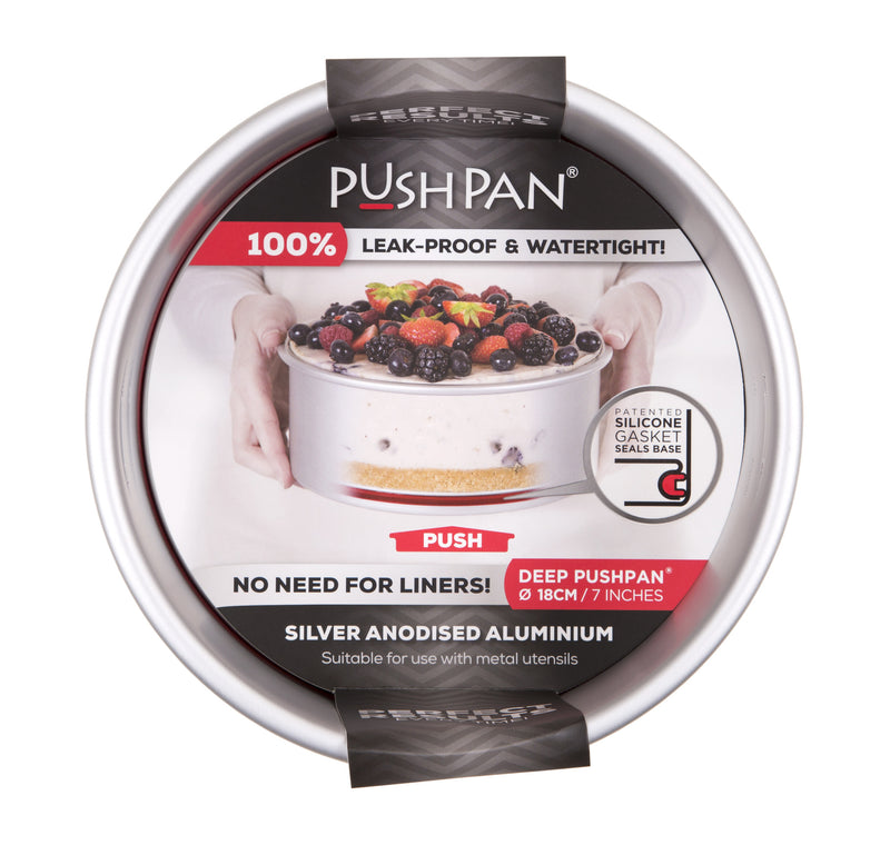 PushPan Deep Round Cake Pan Anodised Aluminium - KitchenarySg - 7