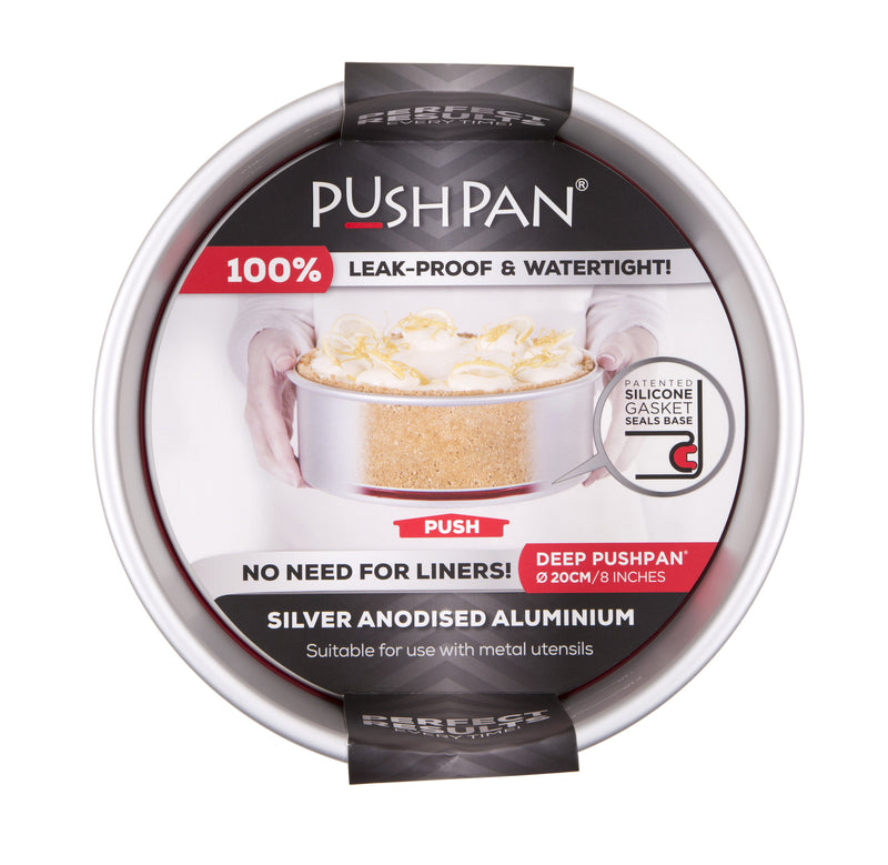 PushPan Deep Round Cake Pan Anodised Aluminium - KitchenarySg - 8