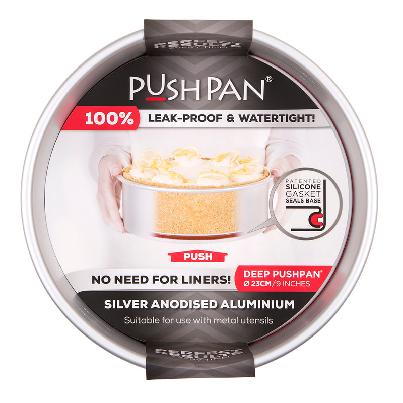 PushPan Deep Round Cake Pan Anodised Aluminium - KitchenarySg - 9