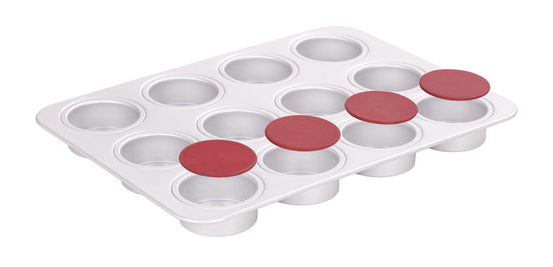 PushPan 12 Cup Muffin Pan - Anodised Aluminium - KitchenarySg - 3