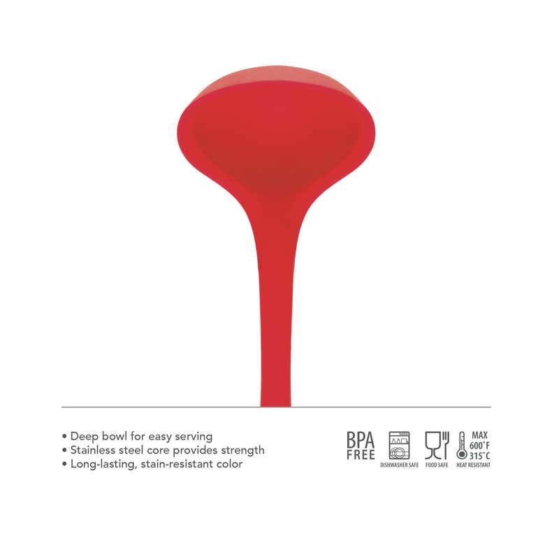 Elements All Silicone Ladle - KitchenarySg - 4