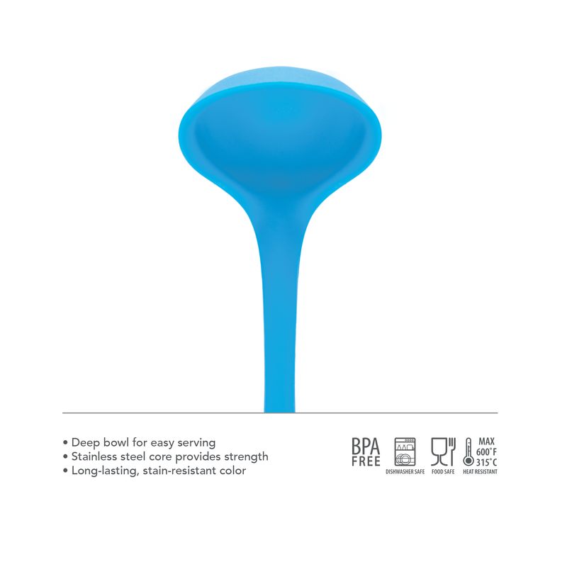 Elements All Silicone Ladle - KitchenarySg - 2