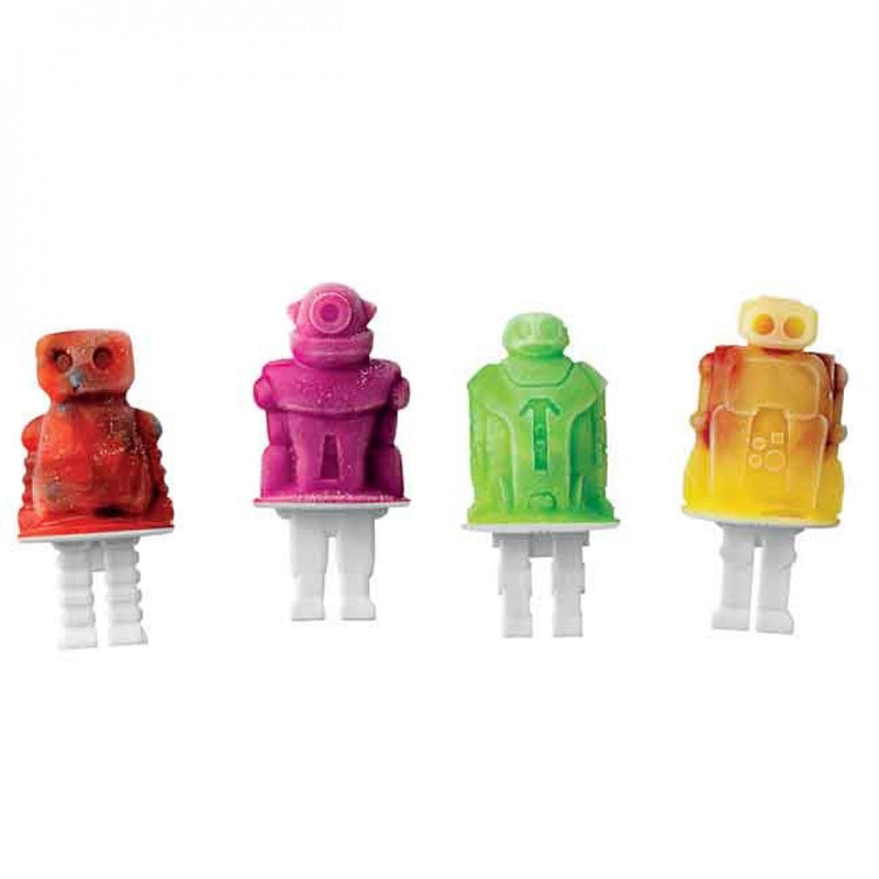 Popsicle Molds - Robot Pop Set of 4 - KitchenarySg - 4