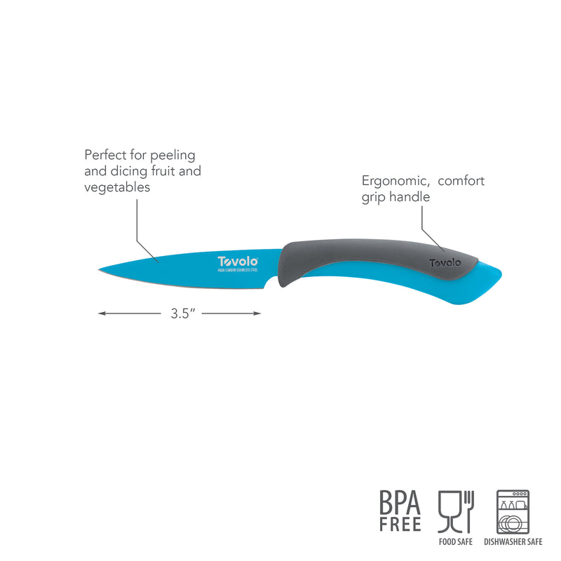 "Comfort Grip 3.5"" Pairing Knife - Ice Blue - KitchenarySg - 5"
