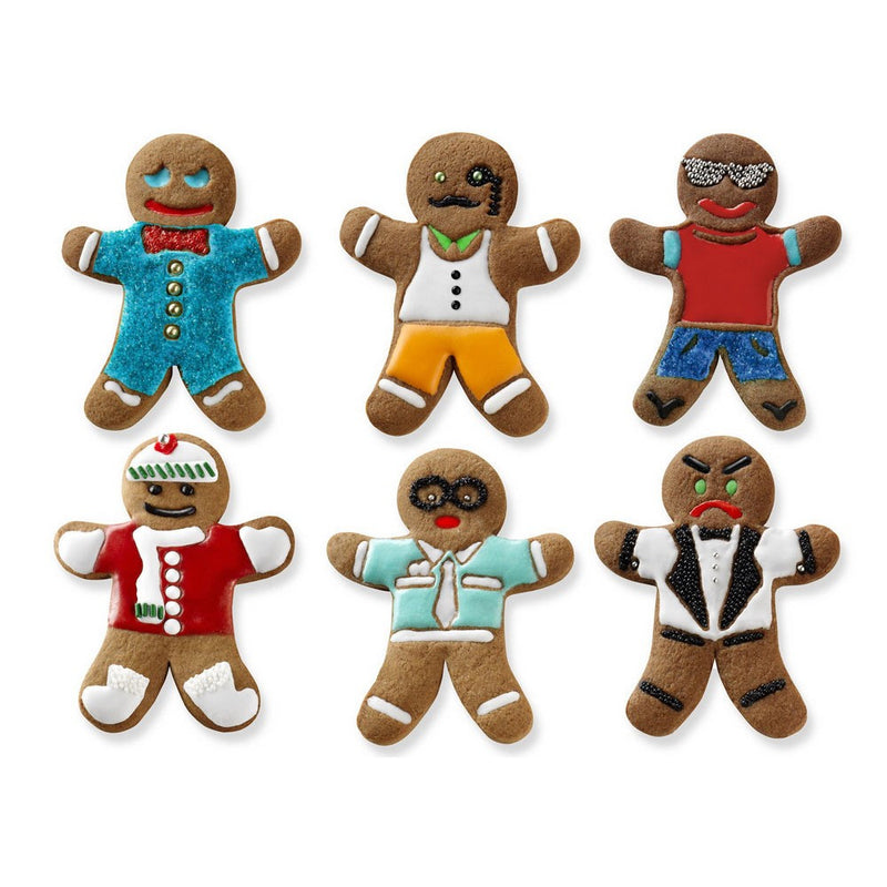 Cookie Cutters - Ginger Boys Set of 6 - KitchenarySg - 3