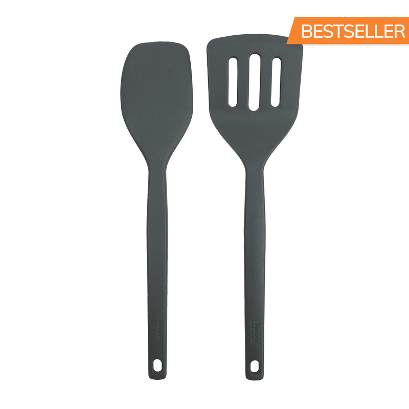 Elements All Silicone Spatula/Slotted Turner - KitchenarySg - 1