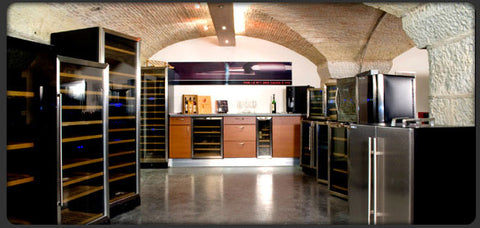 Climadiff wine cabinet showroom
