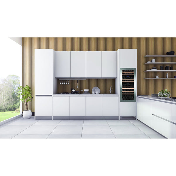 Dunavox - 65 bottle Integrated Handleless Triple Zone Wine Fridge DAB-65.178TSS.TO