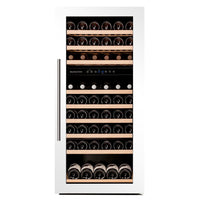 Dunavox - 89 bottle Fully Integrated Dual Zone Wine Fridge DAB-89.215DW Elite Wine Refrigeration