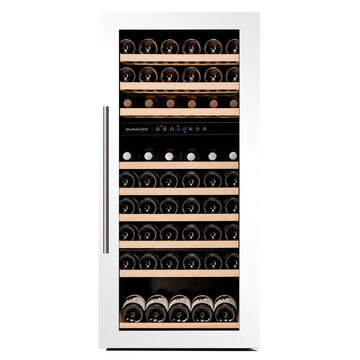Dunavox - 89 bottle Integrated Dual Zone Wine Fridge DAB-89.215DW