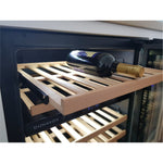 Dunavox - 600mm Built in Dual Zone Wine Cooler DAUF-46.145DSS - 3 Lighting Option