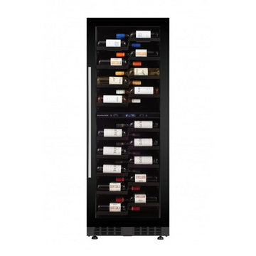 Dunavox - 104 bottle Built In Tall Dual Zone Wine Cooler DX-104.375DB