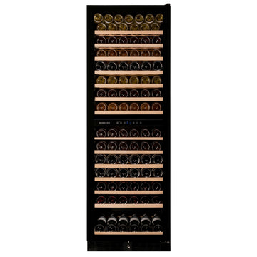 Dunavox - 166 bottle Built In Dual Zone Tall Wine Cooler DX-166.428DBK