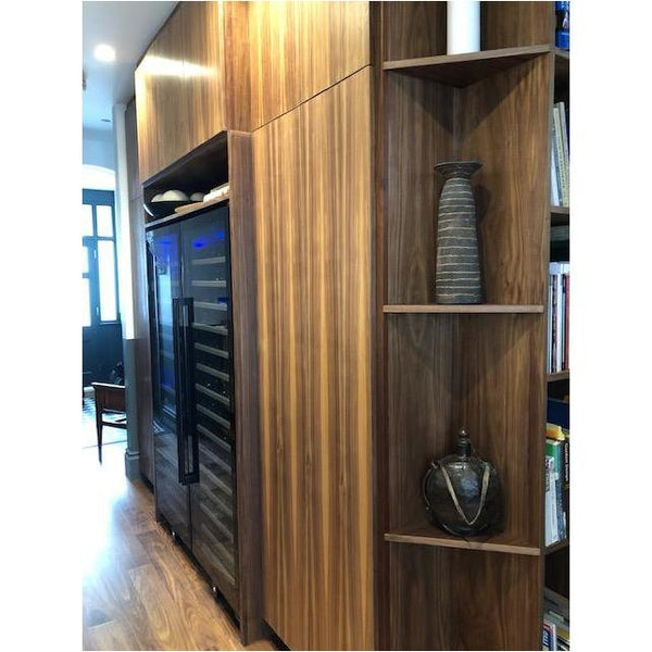 Dunavox - 181 bottle Freestanding / Built in Dual Zone Tall Wine Cabinet DX-181.490DBK