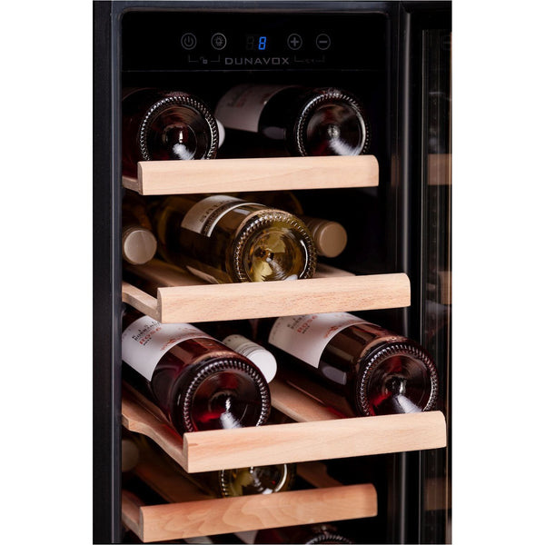 Dunavox - 19 bottle 300mm Built in Wine Cooler DAU-19.58SS Elite Wine Refrigeration