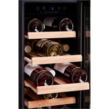 Dunavox - 19 bottle 300mm Built in Wine Cooler DAU-19.58B - [product _type] - [productvendor] - Elite Wine Refrigeration