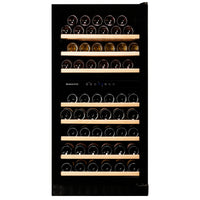 Dunavox - 94 bottle Built in Dual Zone Wine Cooler DX-94.270DBK