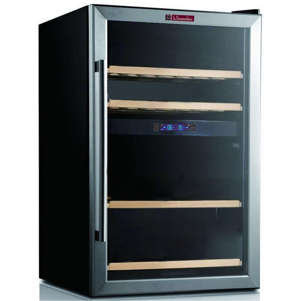 La Sommeliere - 42 Bottle Dual Zone Freestanding Wine Fridge SLS48.2Z