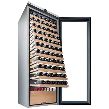 La Sommeliere - 178 Bottles Freestanding Multiple Zone Wine Cabinet VIP315V-SSL