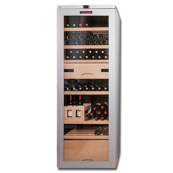 La Sommeliere - 209 Bottles Freestanding Multiple Zone Wine Cabinet VIP315V-SS