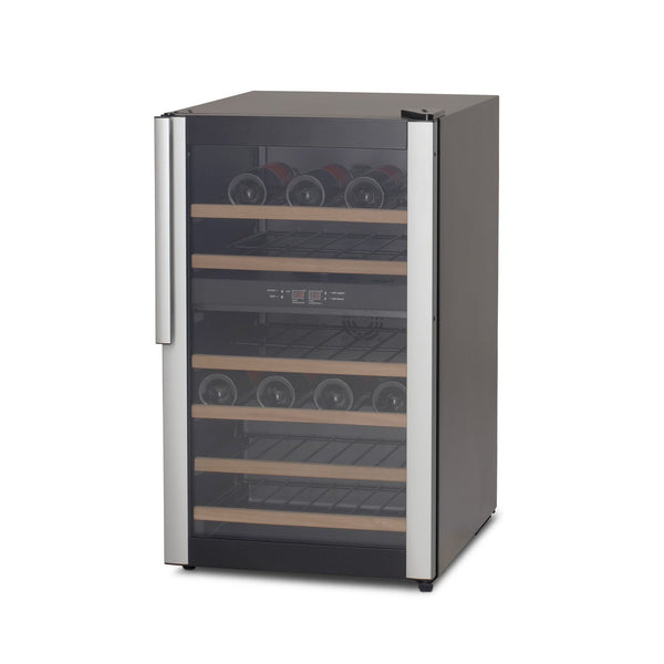 Vestfrost - 32 Bottle Dual Zone Freestanding Wine Cooler W32