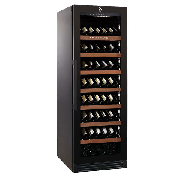 SWISSCAVE - 140 Bottle Single Temperature Zone Wine Cooler - WLB460FLD