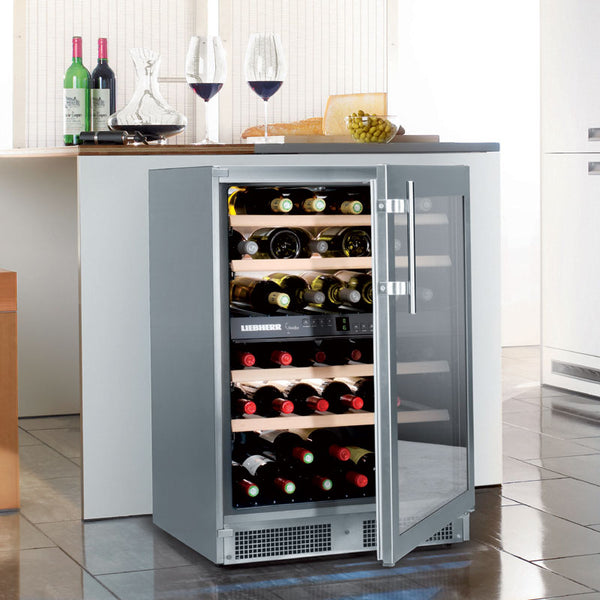 Liebherr - 34 Bottle Freestanding Dual Temperature Zone Wine Cooler WTes 1672