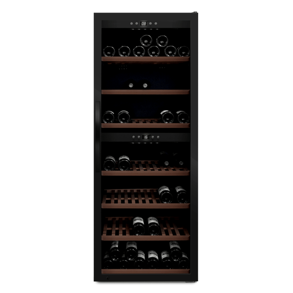 mQuvée - Wine Expert 126 Freestanding Wine Cooler - black Elite Wine Refrigeration